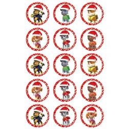 Oblea Galletas Patrulla Canina Navidad