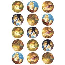 Oblea Galletas Bolas de Arbol de Navidad