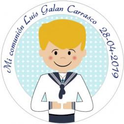 Oblea Galletas Comunión Niño nº14