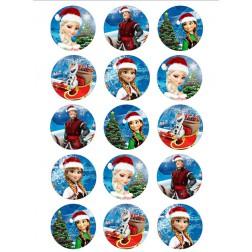 Oblea Galletas Frozen Navidad
