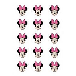 Oblea Galletas Cara de Minnie Rosa
