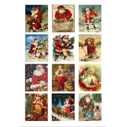 Oblea Galletas Navidad Papa Noel Vintage