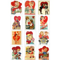 Oblea Galletas Dia San Valentin Vintage