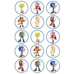 Oblea Galletas Sonic y sus Amigos