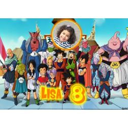 Oblea Dragon Ball Z Montaje con Foto - Dina4