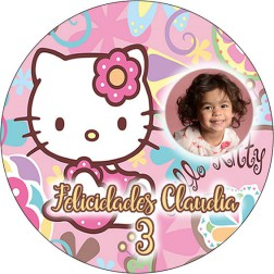 Oblea Hello Kitty con Foto - Redondo