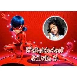Oblea Ladybug Montaje con Foto - Dina4