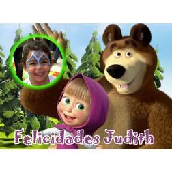 Oblea Masha y el Oso Montaje con Foto - Dina4