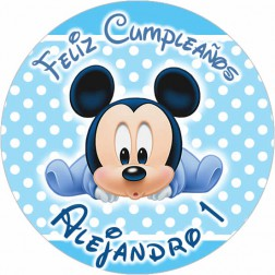 Oblea Baby Mickey Personalizada