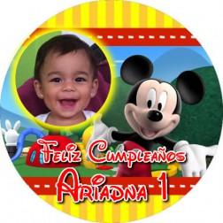 Oblea Mickey Mouse Montaje con Foto - Redondo