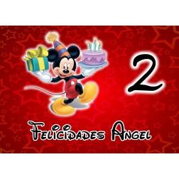 Oblea de Mickey Cumpleaños A4