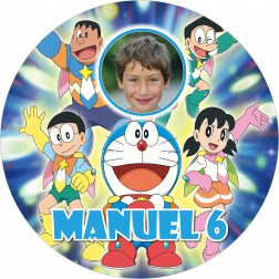 Oblea Doraemon Montaje con Foto - Redondo