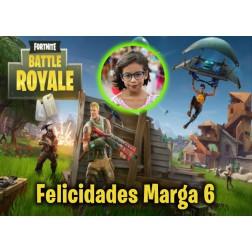 Oblea Fortnite Battle Royale Montaje con Foto - Dina4