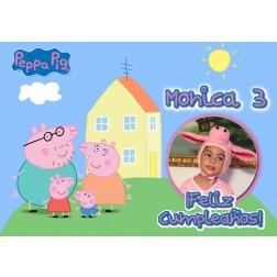 Oblea Peppa Pig Montaje con Foto - Dina4
