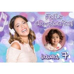 Oblea Violetta Montaje con Foto - Dina4