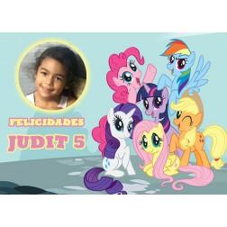 Oblea My little Pony Montaje con Foto - Dina4