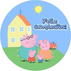 Oblea Tarta Peppa Pig Familia