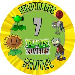 Oblea Plantas y Zombies Personalizada