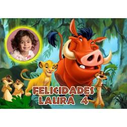 Oblea Rey Leon Montaje con Foto - Dina4
