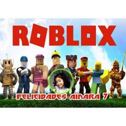 Oblea Roblox Montaje con Foto - Dina4