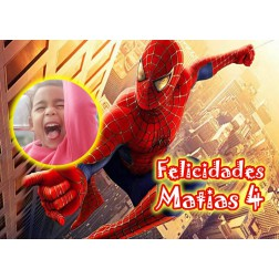 Oblea Spiderman Montaje con Foto - Dina4