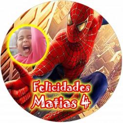 Oblea Spiderman Montaje con Foto - Redondo