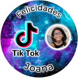 Oblea Tik Tok con Foto - Redondo