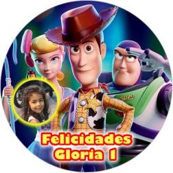 Oblea Toy Story con Foto - Redondo