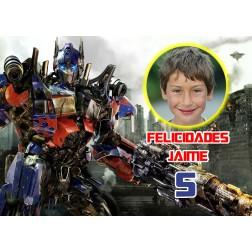 Oblea de Transformers Montaje con Foto - Dina4