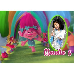 Oblea Trolls Poppy Montaje con Foto - Dina4