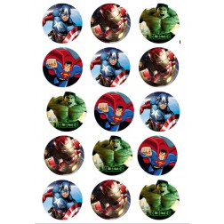 Oblea Galletas Super Heroes