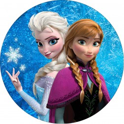 Impresión Comestible Tarta Frozen Anna y Elsa