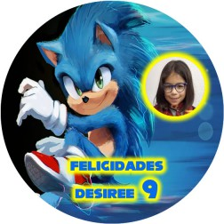 Oblea Sonic con Foto - Redondo