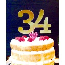 Topper Numero de Cumpleaños para Tartas