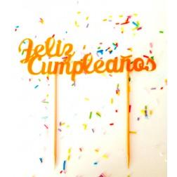 Topper para Tartas Feliz Cumpleaños