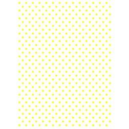 Wafer Paper Blanco con Topos Amarillos