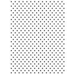 Wafer Paper Blanco con Topos Negros