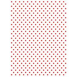 Wafer Paper Blanco con Topos Rojos