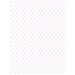 Wafer Paper Blanco con Topos Rosas